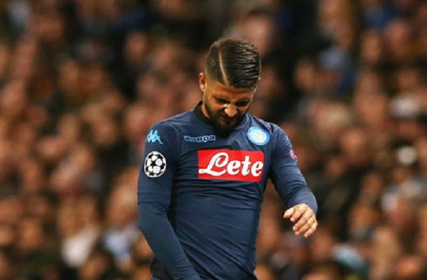 Infortunio muscolare Insigne in Manchester City-Napoli