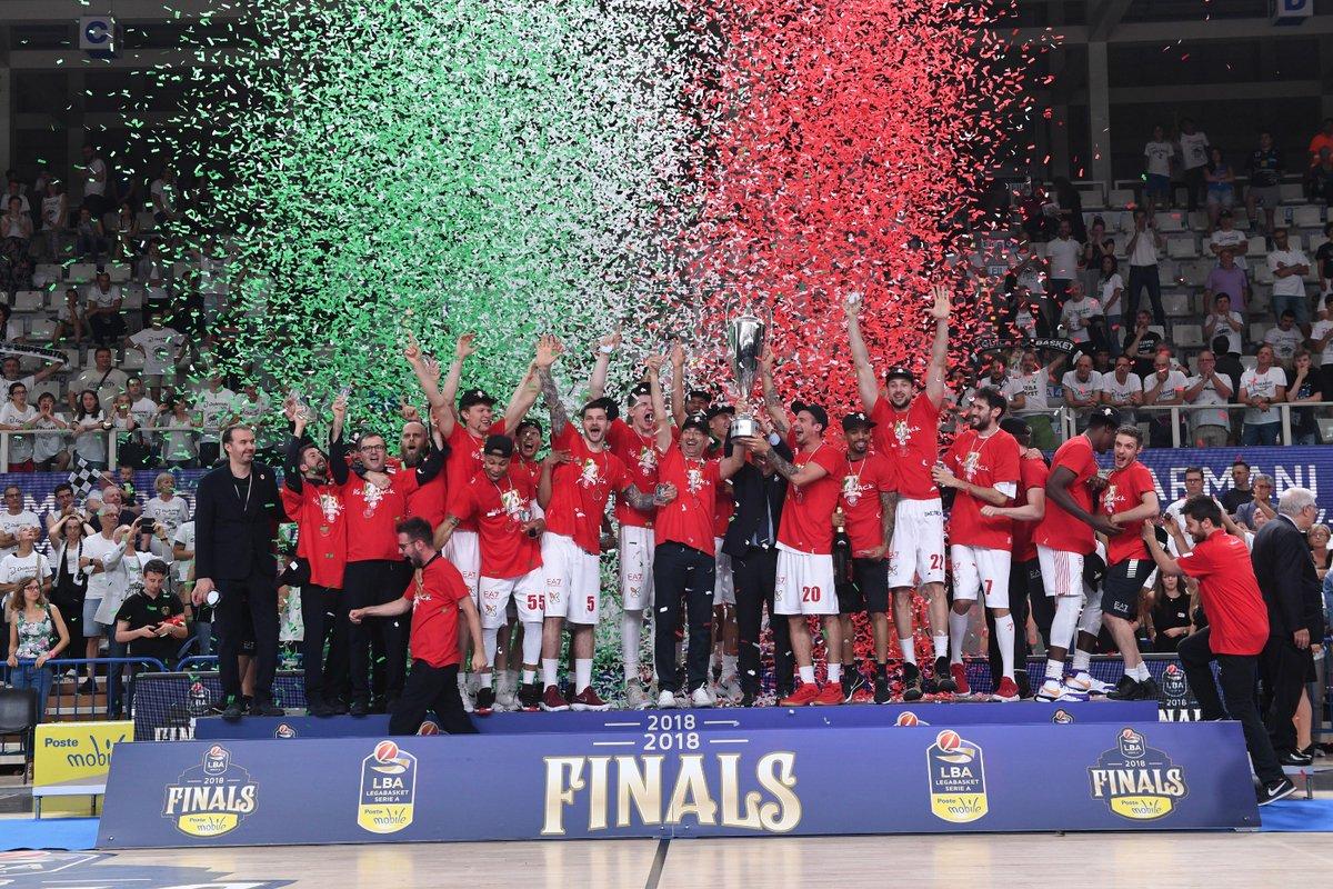 Scudetto  numero 28 per l'Olimpia Milano basket